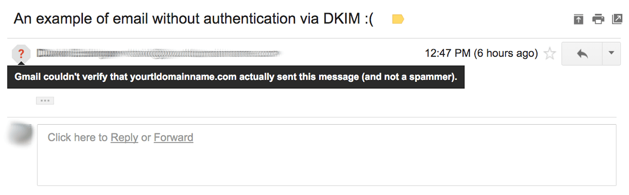 Gmail email without authentication