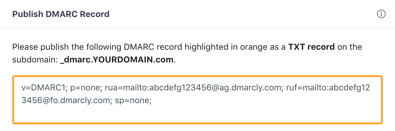 Generate DMARC Record